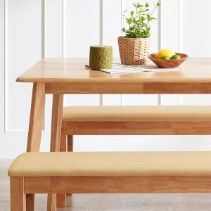 (5%중복쿠폰) 한정특가 4인용 원목식탁(벤치/의자)