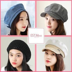 베레모 헌팅캡 빵 팔각모 여성모자 여자 봄 여름 모자