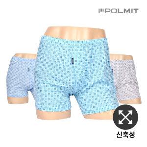 폴밋/남성/남자/트렁크/사각/팬티/니트 PMT-383(4) 3매
