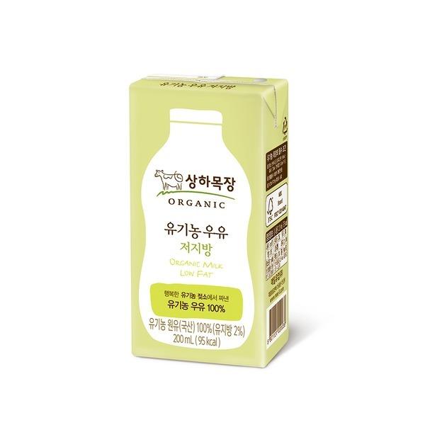 상하목장 유기농 멸균 저지방우유 200ml x 48팩
