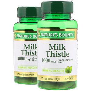 Natures Bounty 밀크씨슬 1000mg 50 소프트젤 x 2팩