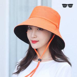 양면 여성 벙거지 모자 햇빛가리개 버킷햇 썬캡 H04