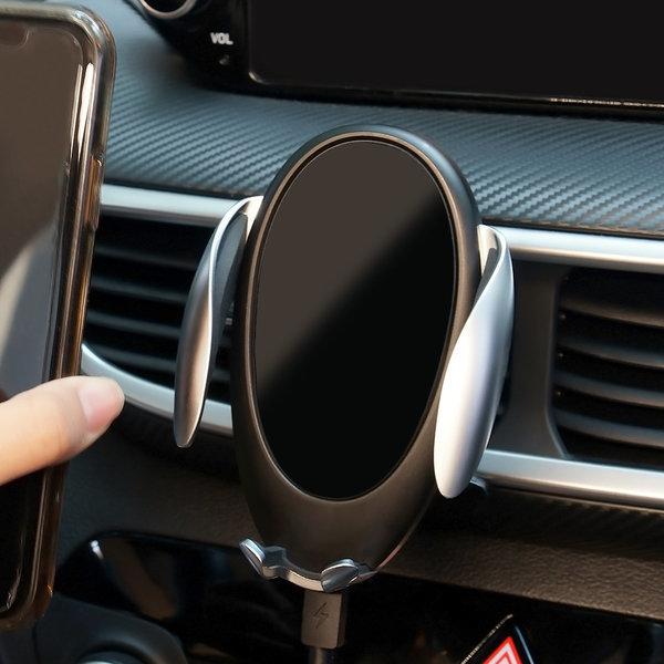 차량용 핸드폰 휴대폰 고속 무선충전 거치대 펭권2세대
