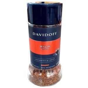 다비도프 리치 아로마 커피 100g 1병.