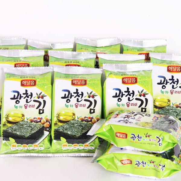 해달음 광천도시락김 녹차올리브 도시락김 4gX24봉