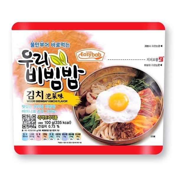 우리비빔밥 김치/전투식량/비상식량/재난대비/즉석밥