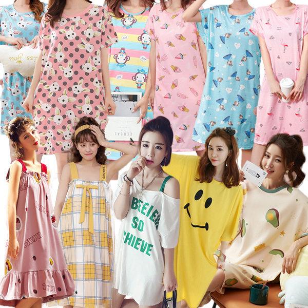 잠옷 파자마 홈웨어 여름잠옷 여성잠옷 원피스잠옷