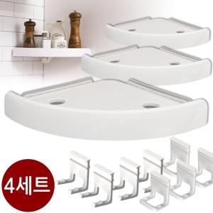오션 버티고 선반 욕실 정리대 모서리선반 4세트
