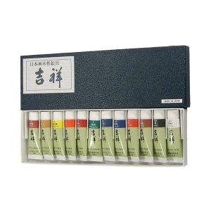 길상물감 튜브(12색) 일본산