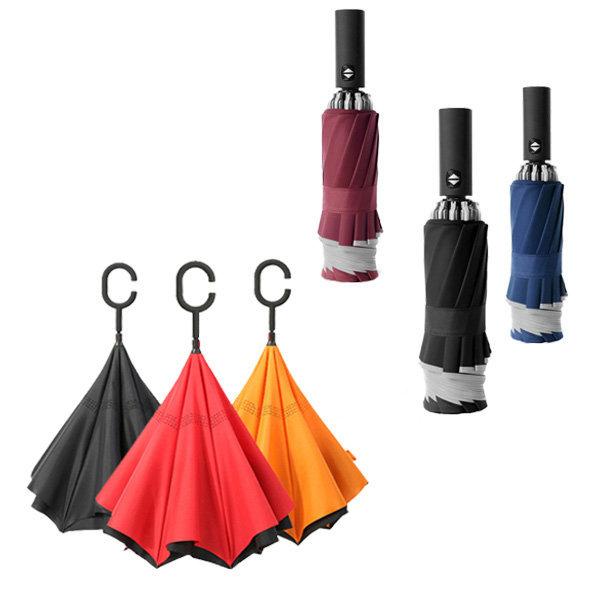 거꾸로접는우산 반대로 접히는 반전 우산 C형/자동3단