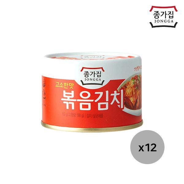 고소한맛 종가집 볶음김치160g(캔) 12캔