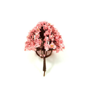 디오라마 건축 나무모형 핑크 1P