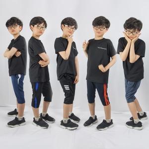 여름 주니어 아동 7부 반바지  트레이닝바지 아동복