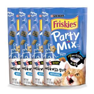 프리스키 파티믹스 비치사이드 고양이간식 60g x4개