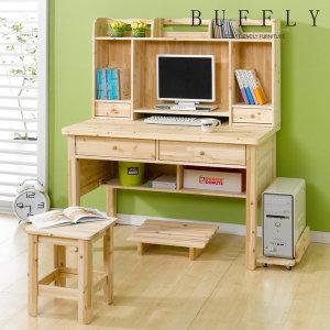 삼나무 원목 책상 컴퓨터책상 책꽂이 학생책상 테이블