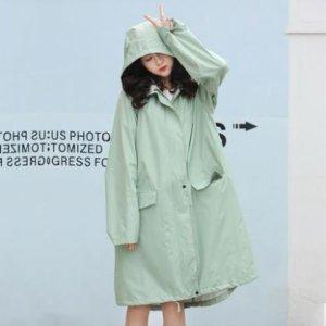 남녀공용 예쁜 커플 패션 우비 레인 코트 S9