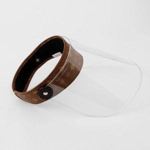 안면보호 페이스모자 투명 썬캡(브라운)성인 투명모자