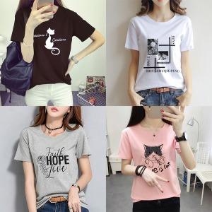하나홀릭 여성 여름 신상 프린팅 티셔츠/나시티/반팔