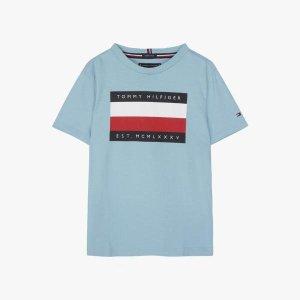 코튼 빅 플래그 반소매 티셔츠(T42A1KKO025BT1)