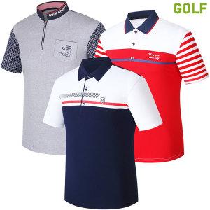 반팔 카라티 남성 남자 골프 티셔츠 골프웨어 반팔티