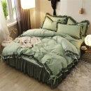 이불 침대 매트리스 베개 커버 침구세트 올리브