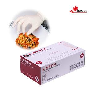 라텍스 장갑 100매 요리 식품 실험 다목적 식품용인증