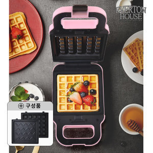 와플메이커(핑크) 와플기 샌드위치 간식메이커 분리형