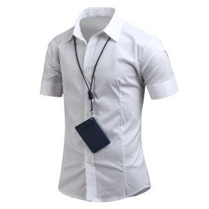 남성 여름 슬림 셔츠 기본 스판 반팔셔츠 남방 _ss0316