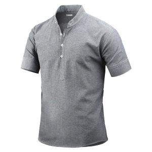 남성 여름 반팔 셔츠 시어난 헨리넥 셔츠 남방 _sh2552