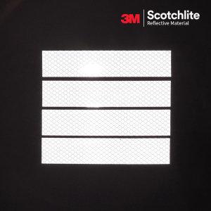 3M 스카치라이트 반사 스티커 4pcs 화이트