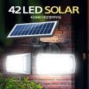 42LED HIGH POWER 태양열충전 벽등 솔라라이트 42SMD