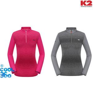 여성 FLW COOL 360  기능성 긴팔 짚티 KWP18260