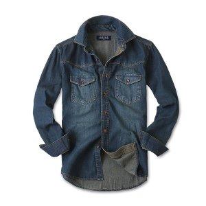 (제이앤몰스(J MOLLS)) 빈티지 청남방 남성 남자 긴팔 데님 셔츠 남방 JM063