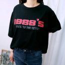 빅사이즈 여성 1988 라운드넥 여름 반팔티 Abel)1988티