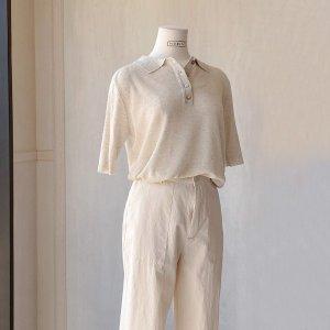 피그먼트  린넨카라/티셔츠(PBJS-NSWW010)
