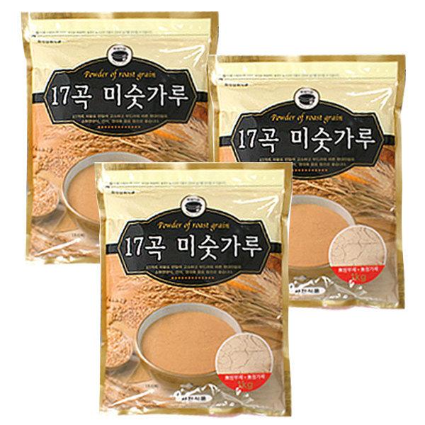 17곡 무설탕 미숫가루 1kgx3봉 건강한 선식/식사대용