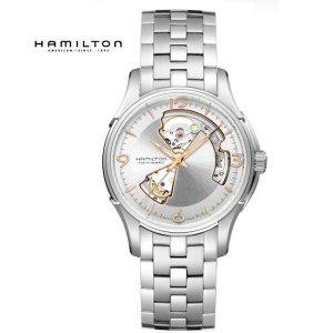 해밀턴 HAMILTON 재즈마스터 오픈하트 남성 메탈시계 H32565155