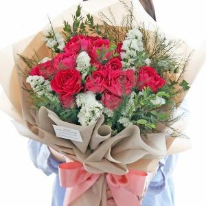 생화 장미 작약 꽃다발 생일 기념일 선물 꽃배달