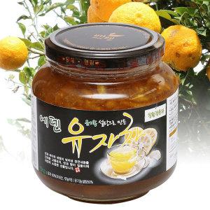 에덴유자차(1kg 2병) 유기농설탕 고흥 유자차 유자청