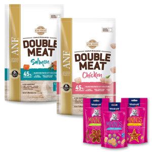 간식사은품3개랜덤증정 더블미트 고양이사료 연어/닭고기 7.2kg