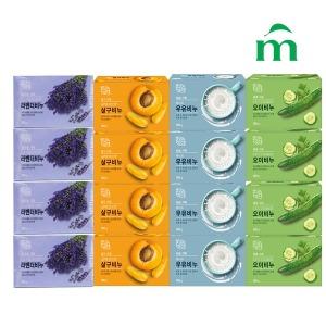 자연미인 세수비누 4종(우유+살구+라벤더+오이) - 상품 이미지