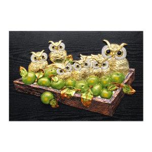 인테리어액자 사과부엉이(대)/거실풍수그림집들이선물