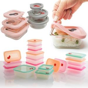 실리콘 전자레인지용기 냉동밥보관용기 주방용품