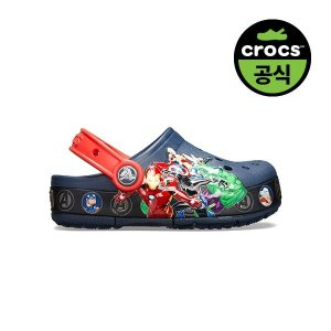 크록스공식  키즈 CROCS FL MARVEL BAND LGHT CLOG K NAVY (20SKCL205507)