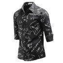 남성 스타일 포인트 패턴 7부 셔츠 _sp1979