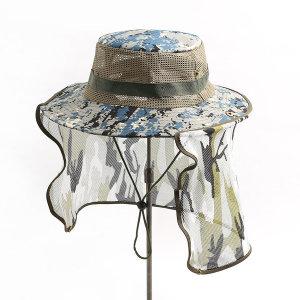 밀리터리 메쉬 정글모자(블루)햇빛가리개 사파리 모자
