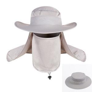 썬바이저 여름 정글 모자 (라이트그레이) 넥커버포함