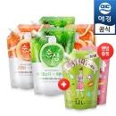 주방세제 순샘 구연산/베이킹소다 1.2Lx4(2종)+사은품