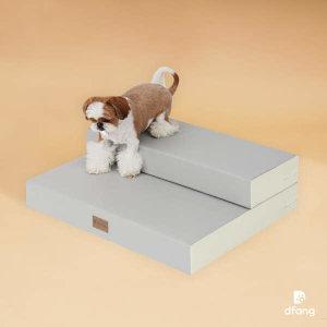 (현대Hmall)디팡 논슬립진 베이스포트2단 - 진그레이 / 강아지계단