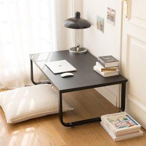 (소담갤러리) 밀키 블랙 라운드 1000 좌식책상 컴퓨터 테이블 노트북 낮은책상